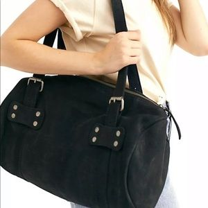 Free People ToteBag DistressedLeather Duffle Studs
